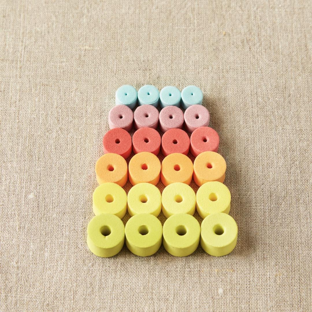 CocoKnits Er mix af maske fangere.  Maschenstopper colorful