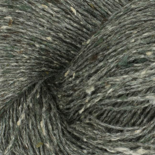 BC Garn Tussah Tweed on 1kg-cones grey-turkis-mix