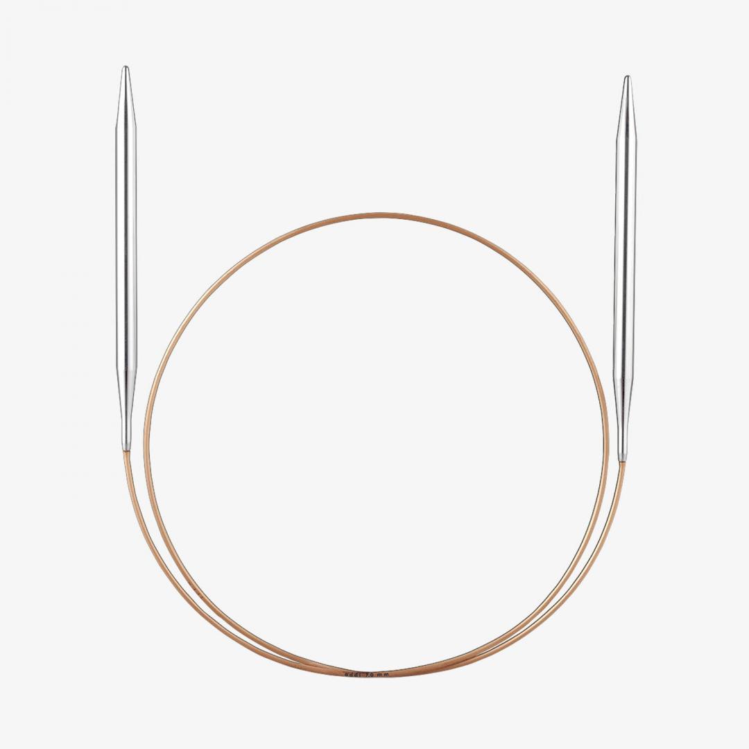 Addi Addi lace rund pinde med messing spids 7mm_100cm