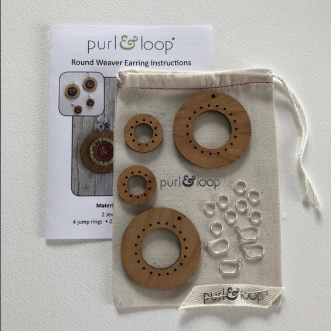 Purl & Loop Round Weaver Earring Kit 5cm L L