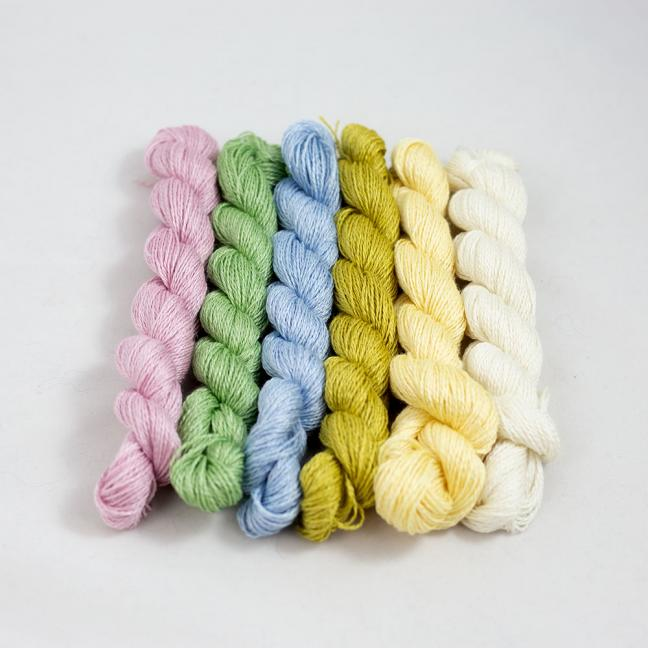 BC Garn Silk Bloom Extra Fino Mini nøgle kit  Pastels