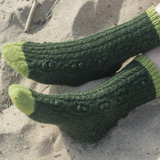 BC Garn AH Hockney Socks  Turquoise