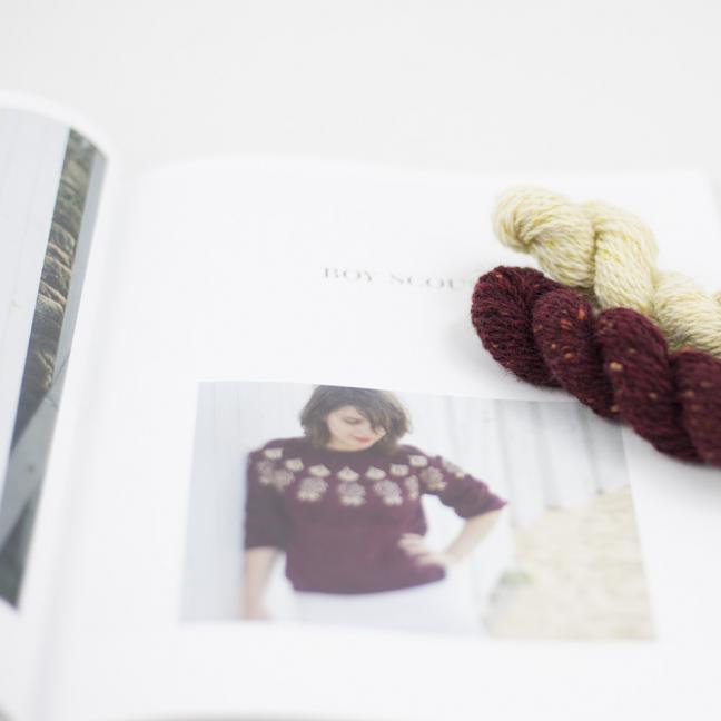 BC Garn AH Kit Boy Scout Sweater Size 1S Bordeaux