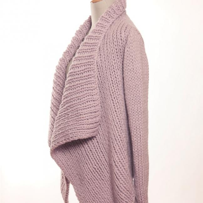 Erika Knight Einzelanleitungen/Patterns Maxi Wool 26 Rib Wrap Cardigan Maxi Deutsch