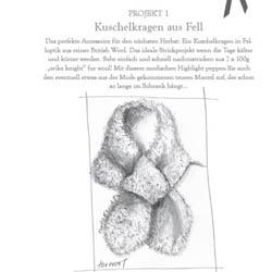 Erika Knight Printed Patterns for Vintage and Fur Wool 1 Kuschelkragen Deutsch Fur Wool