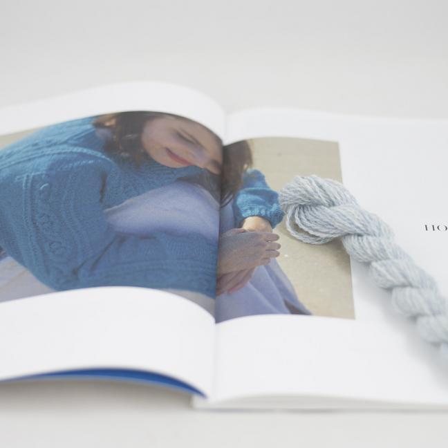 BC Garn AH Kit Hockney Cardigan Size S Ice Blue