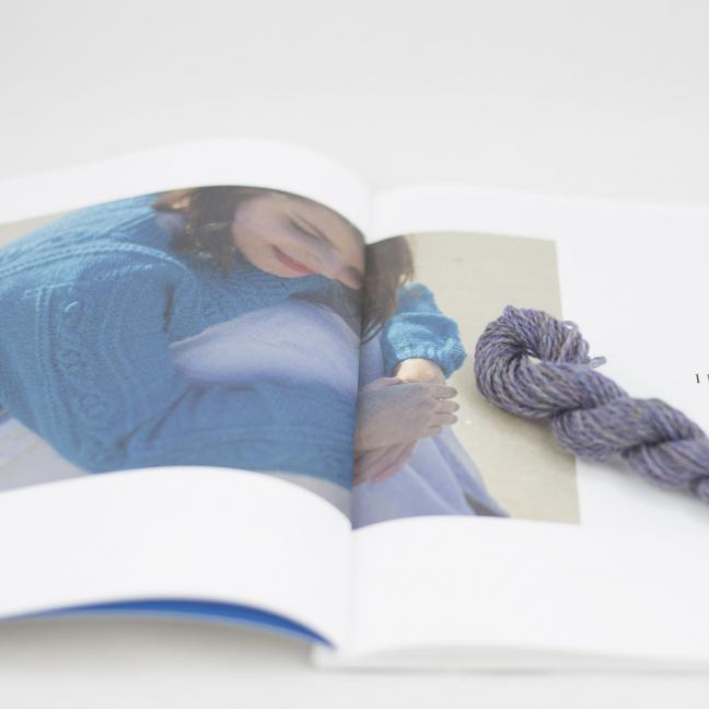 BC Garn AH Kit Hockney Cardigan Size S Light Purple