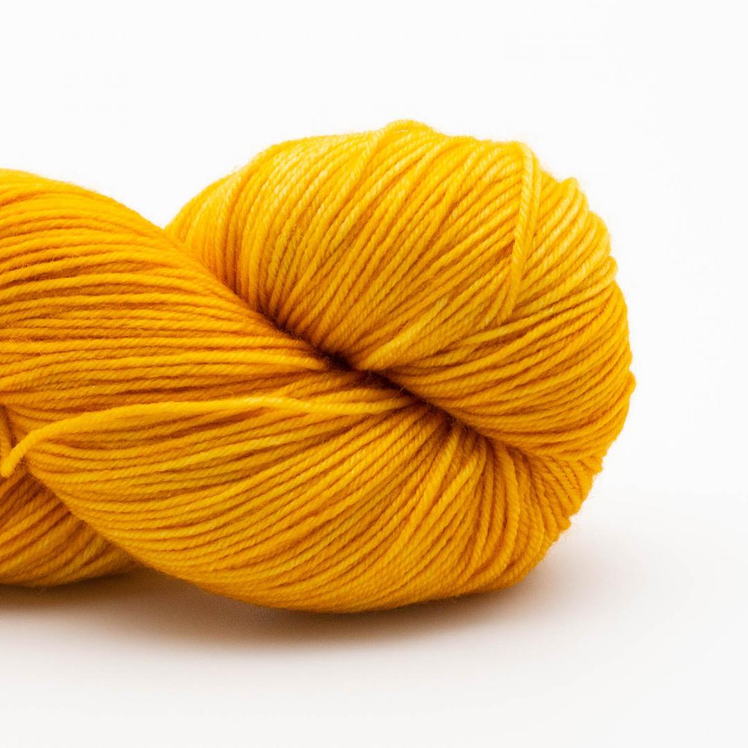 Kremke Soul Wool Lazy Lion Strømpegarn Ensfarvet meleret  Gold