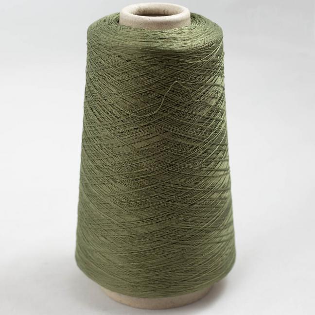 BC Garn Luxor Fino mercerized Cotton 30/2 200g Kone Olive