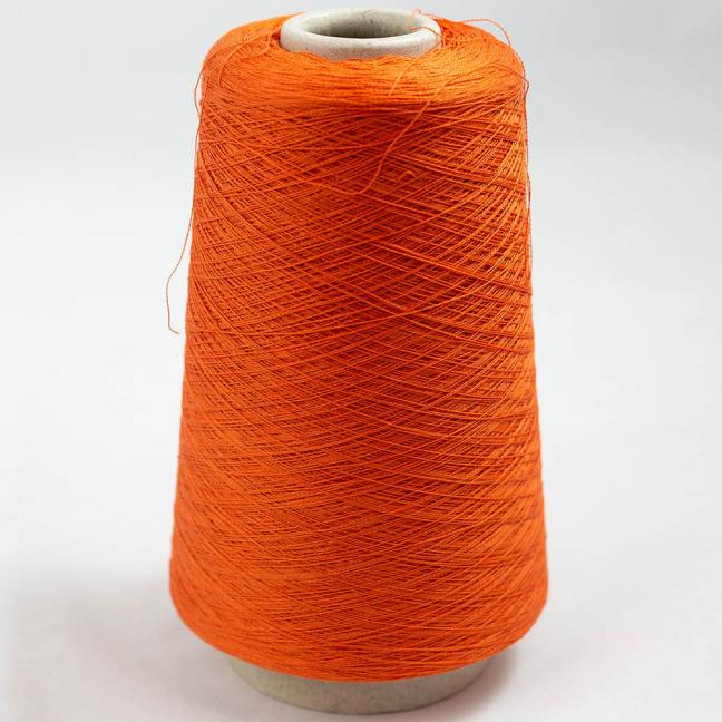 BC Garn Luxor Fino mercerized Cotton 200g Cone Orange