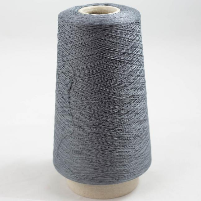 BC Garn Luxor Fino mercerized Cotton 200g Cone Graphit