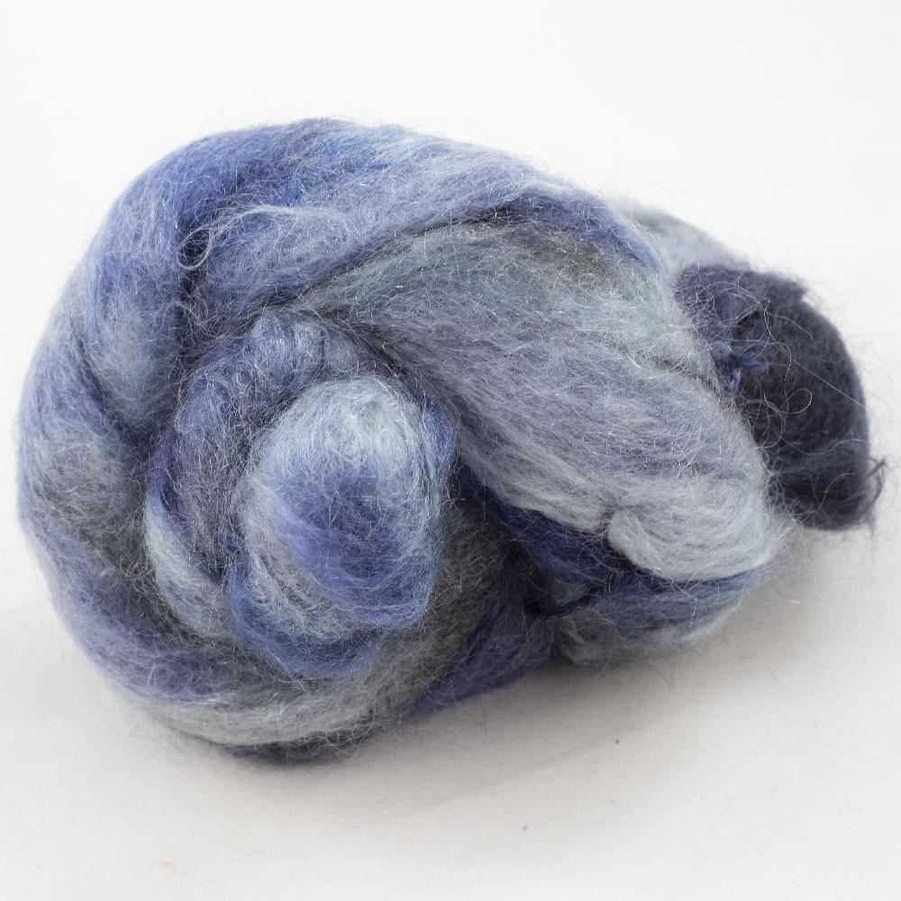 Cowgirl Blues Fluffy Mohair Gradient 100g Moody Blues