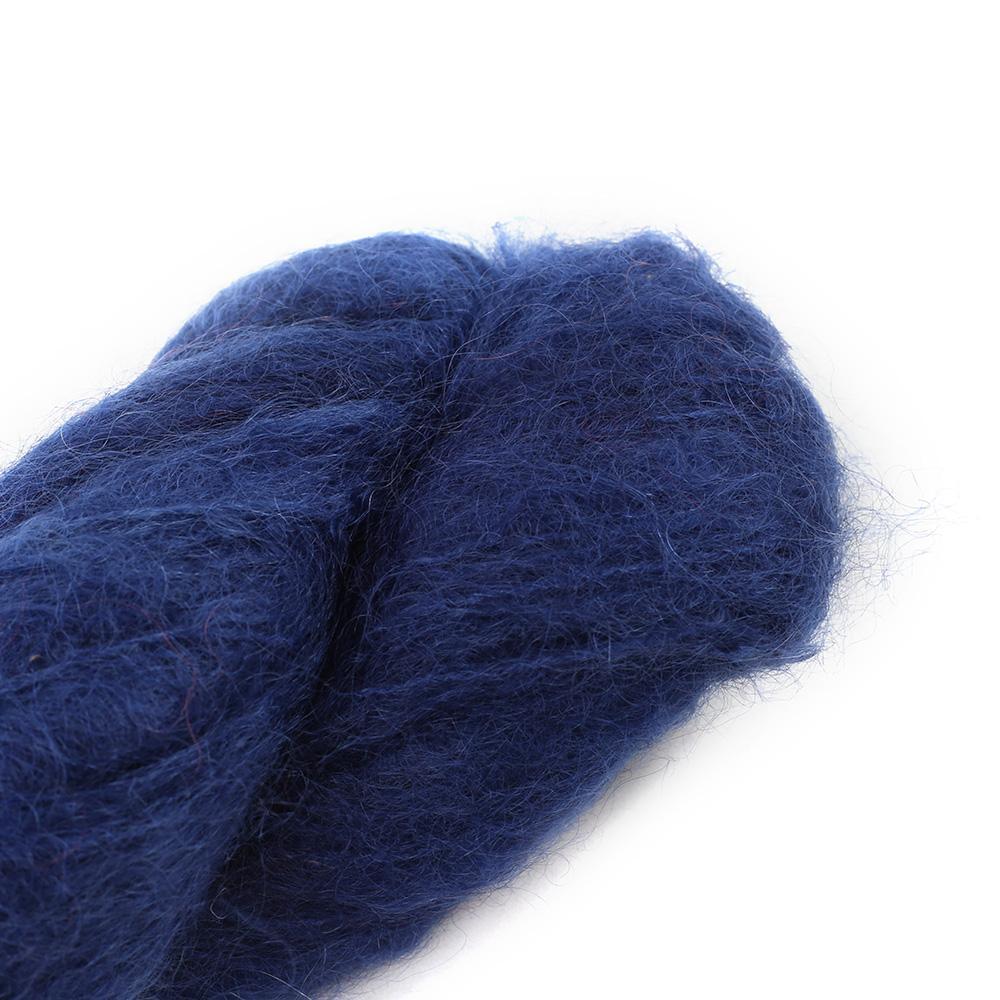 Cowgirl Blues Fluffy Mohair Semi Solids 100g 36-Indigo