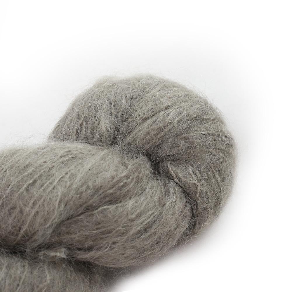 Cowgirl Blues Fluffy Mohair Semi Solids 100g 38-Mushroom