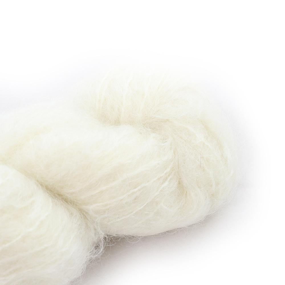 Cowgirl Blues Fluffy Mohair Semi Solids 100g  10-Natural