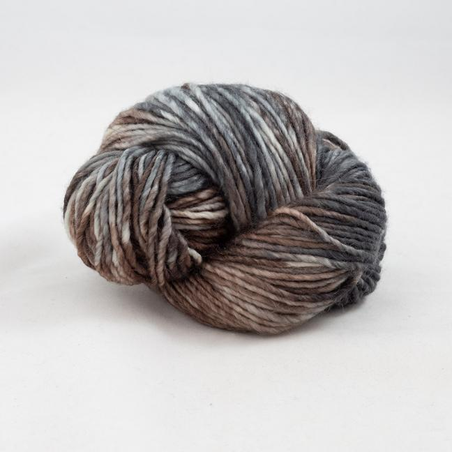 Cowgirl Blues Aran Single Flerfarvet  CharcoalSilverFoxCoffeeCocoa