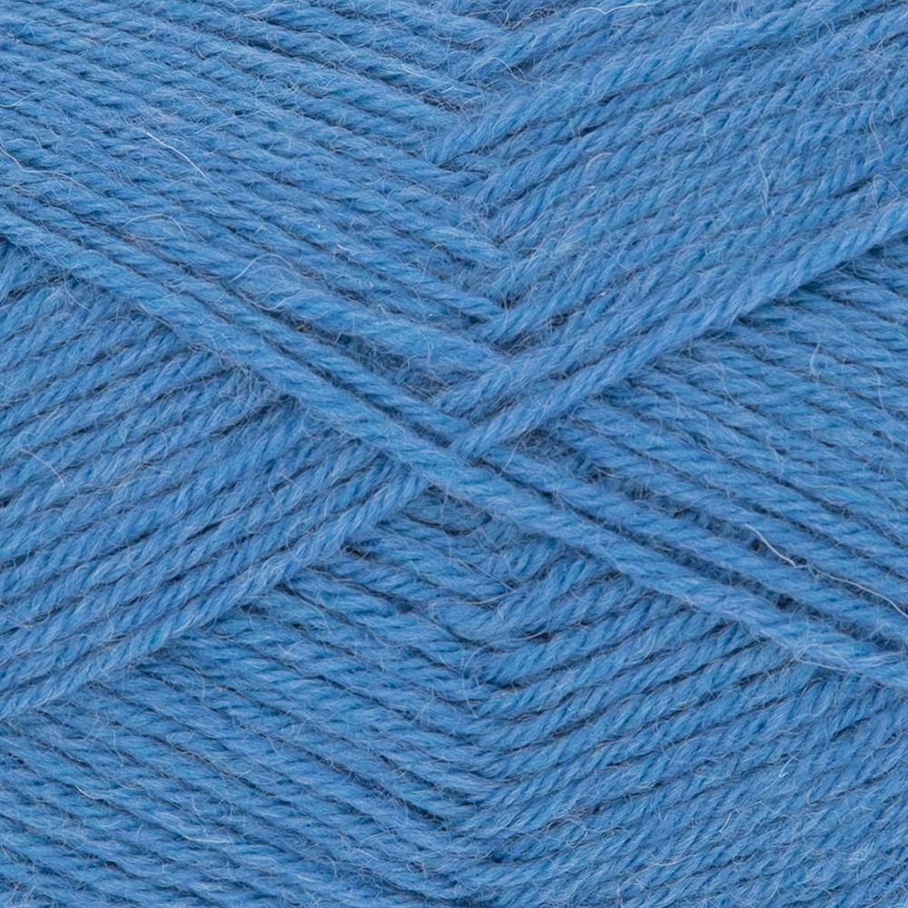 Kremke Soul Wool Edelweiss 50 Medium blue solid