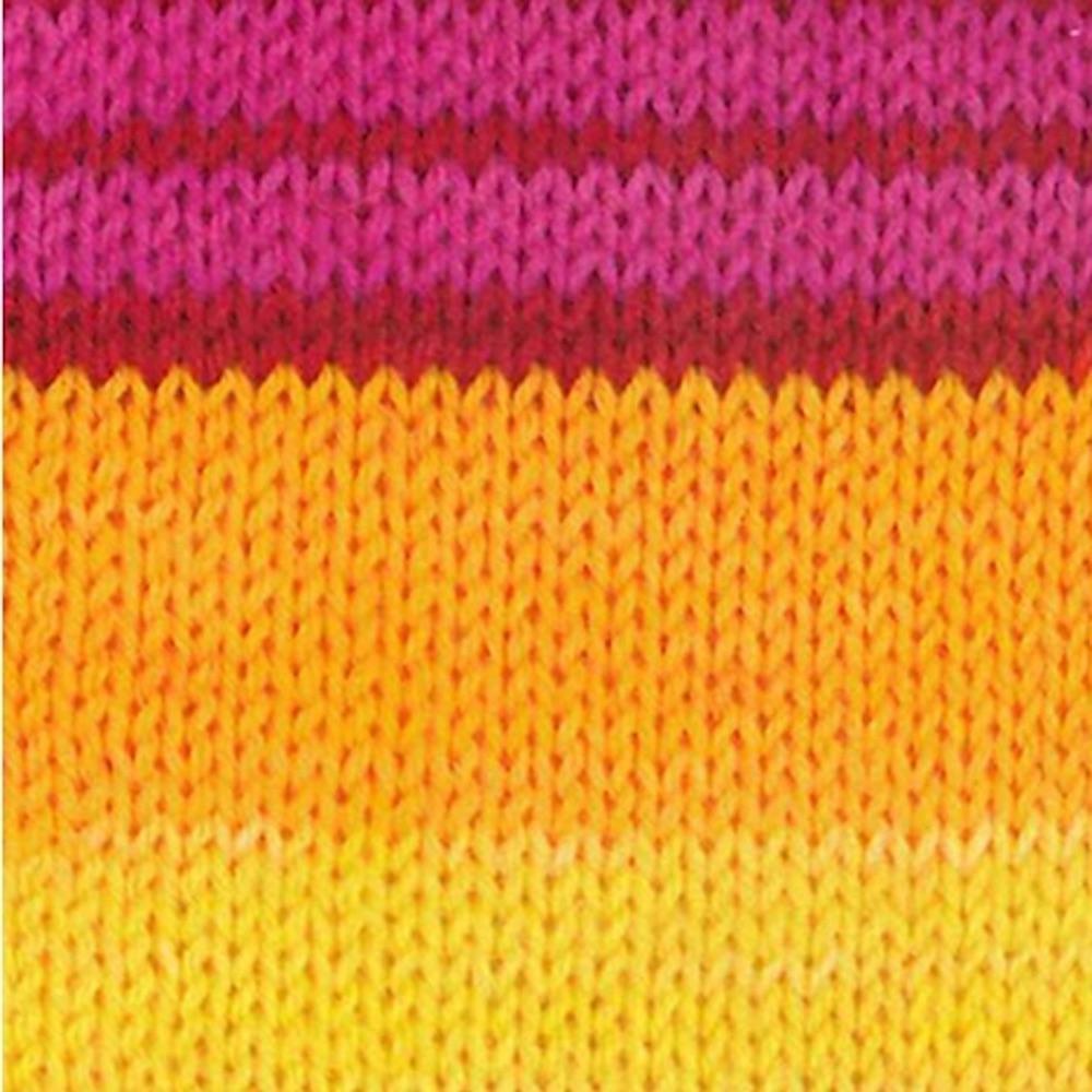 Kremke Soul Wool Edelweiss 4ply 100 Gelb Pink gestreift