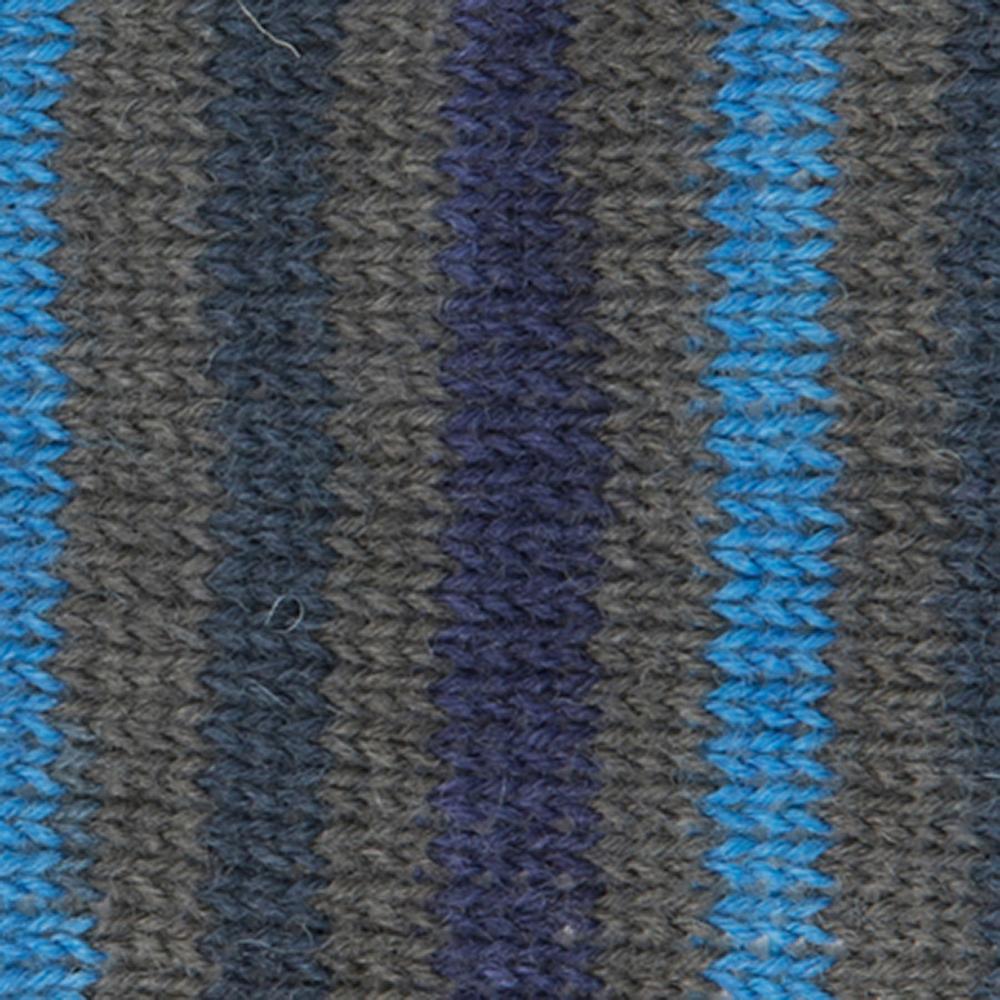 Kremke Soul Wool Edelweiss 4ply 100 Blue Grey striped