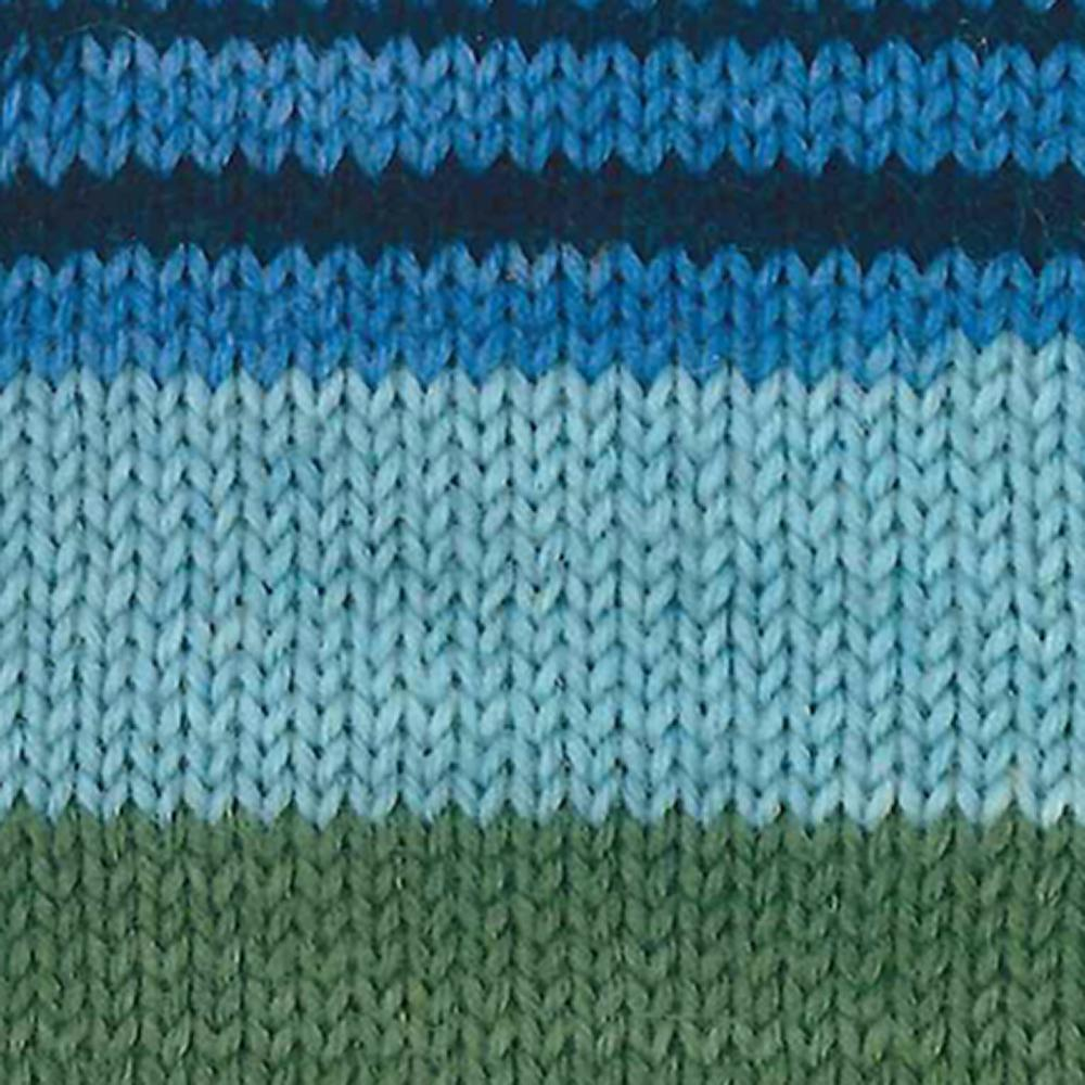 Kremke Soul Wool Edelweiss 6 ply 150 Blue with grey striped