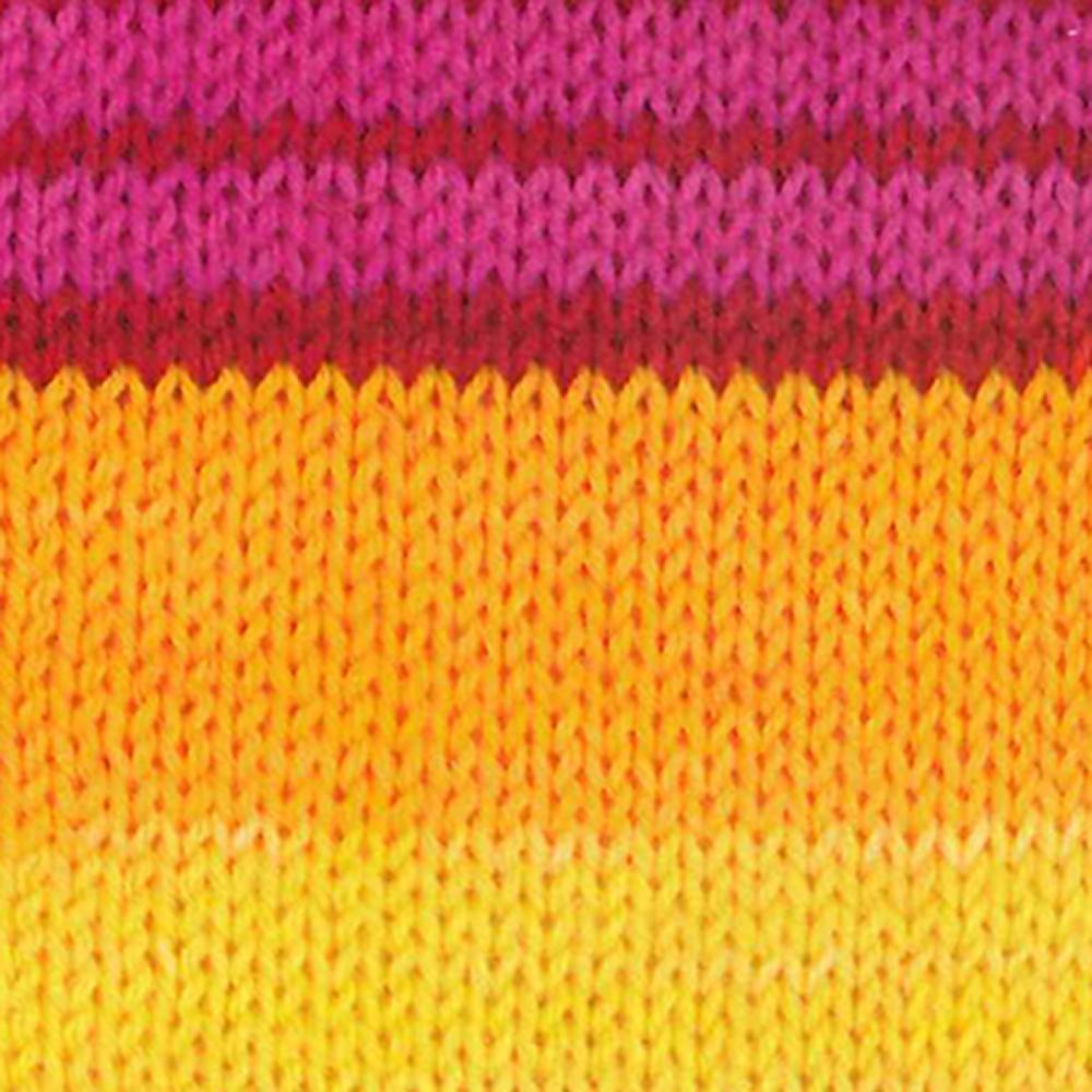 Kremke Soul Wool Edelweiss 6 ply 150 Yellow pink striped