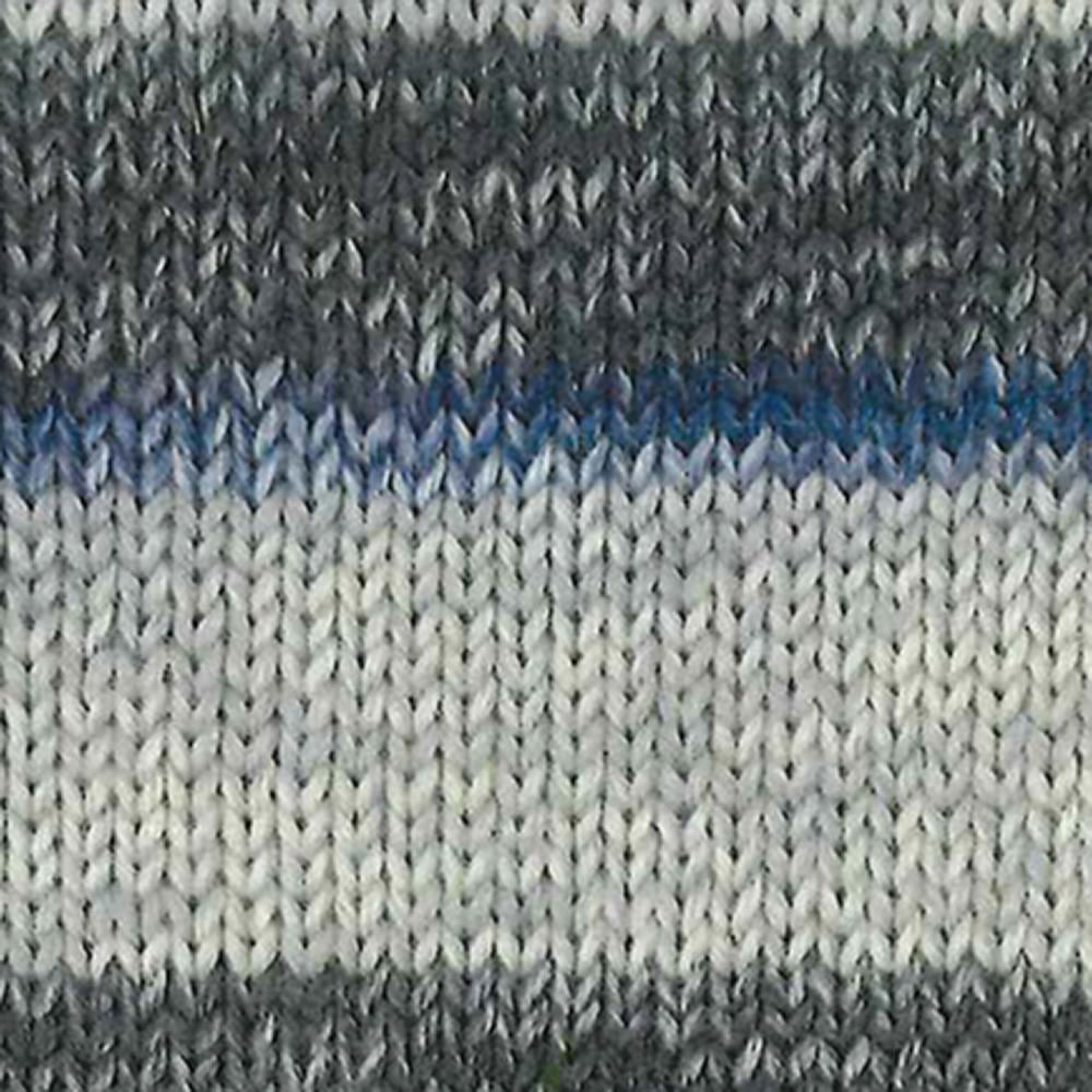 Kremke Soul Wool Edelweiss 6 ply 150 Grey with navy
