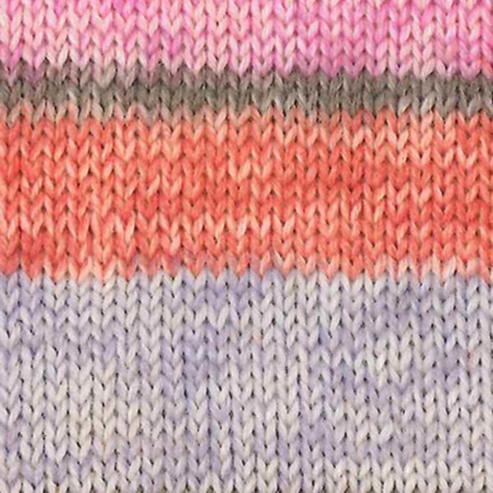 Kremke Soul Wool Edelweiss 6 ply 150 Light blue with orange