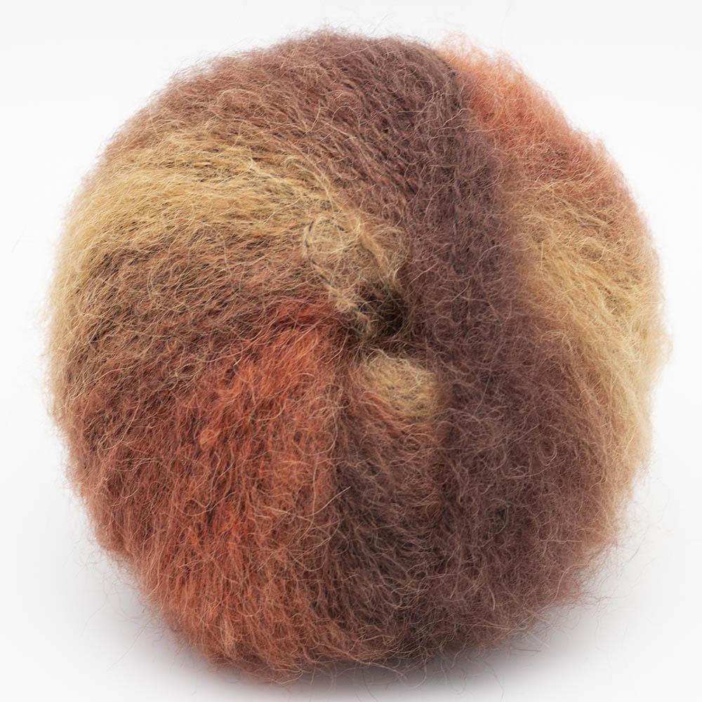 Kremke Soul Wool Baby Silk Fluffy Flerfarvet Rostbraun