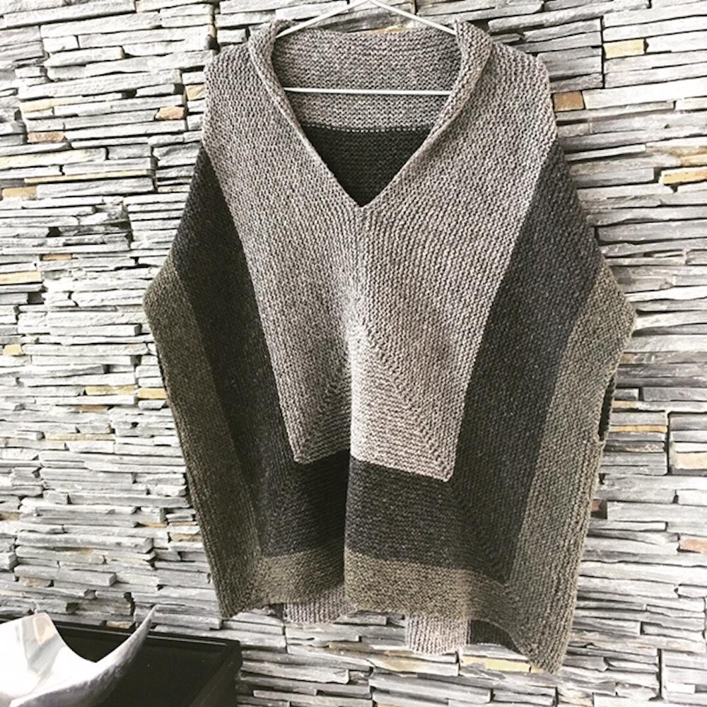 BC Garn Strickset Oversize Pullover Melange GOTS  Erde