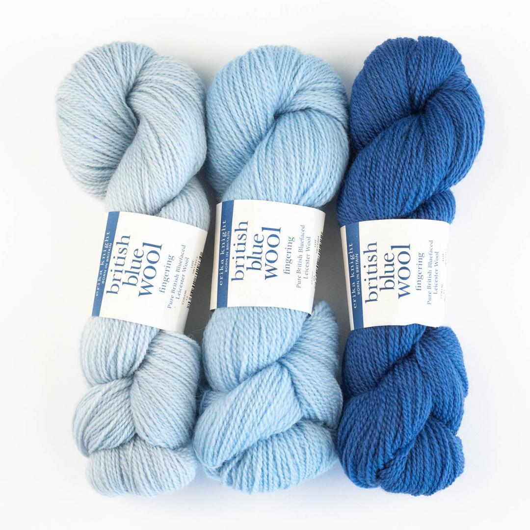 Erika Knight British Blue Fingering  Natural undyed
