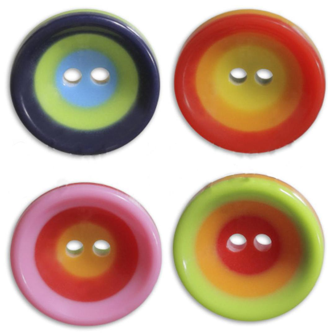 Jim Knopf Colorful plastic button circles 16mm