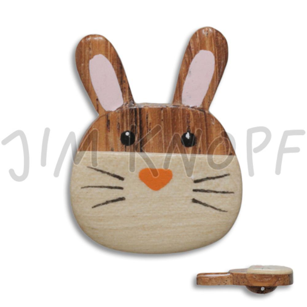 Jim Knopf Wood button mouse or rabbit 32mm Hase