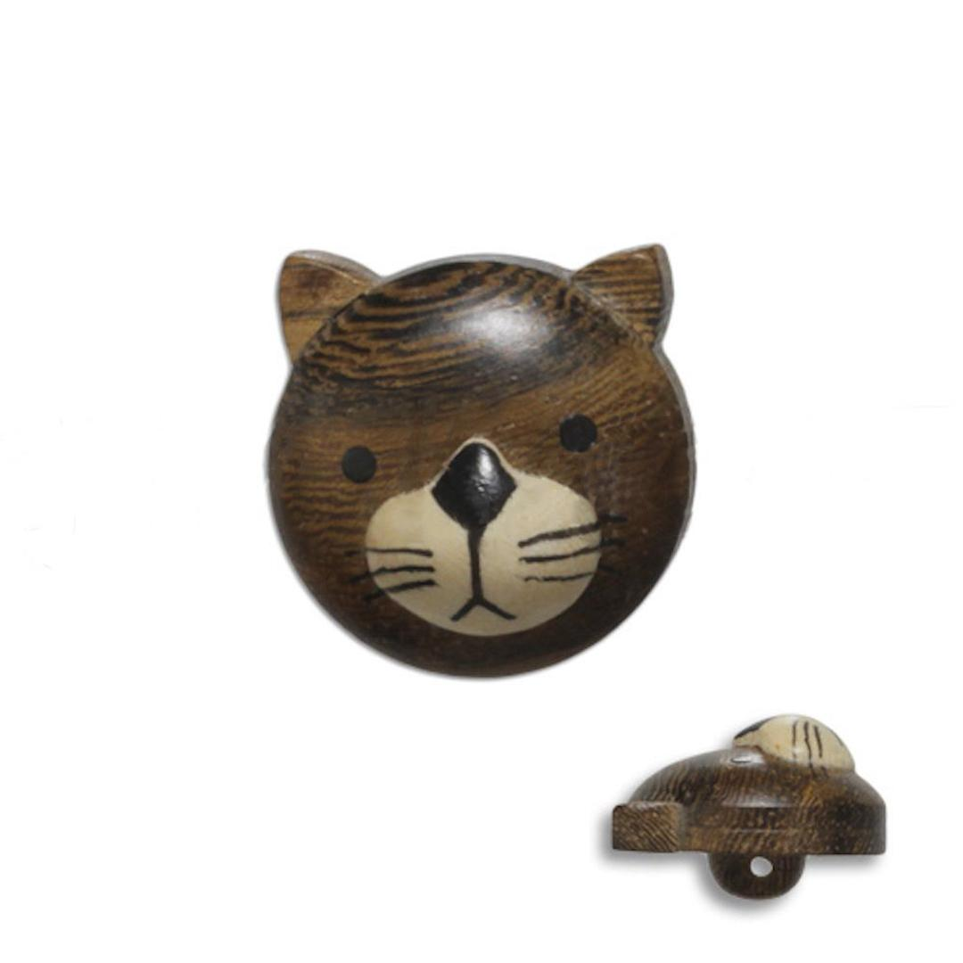 Jim Knopf Wood button cat 20mm