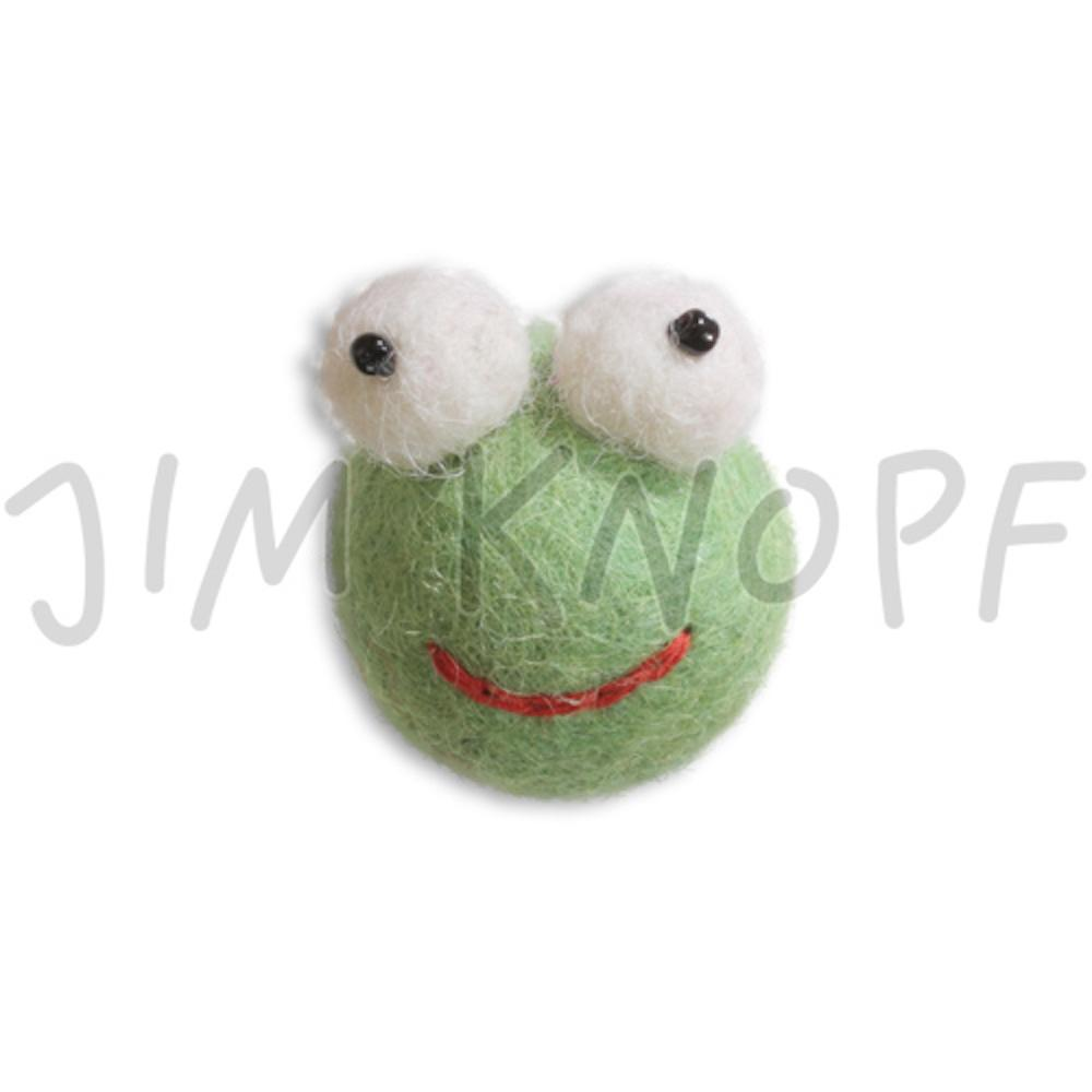 Jim Knopf Felted animal faces Frosch