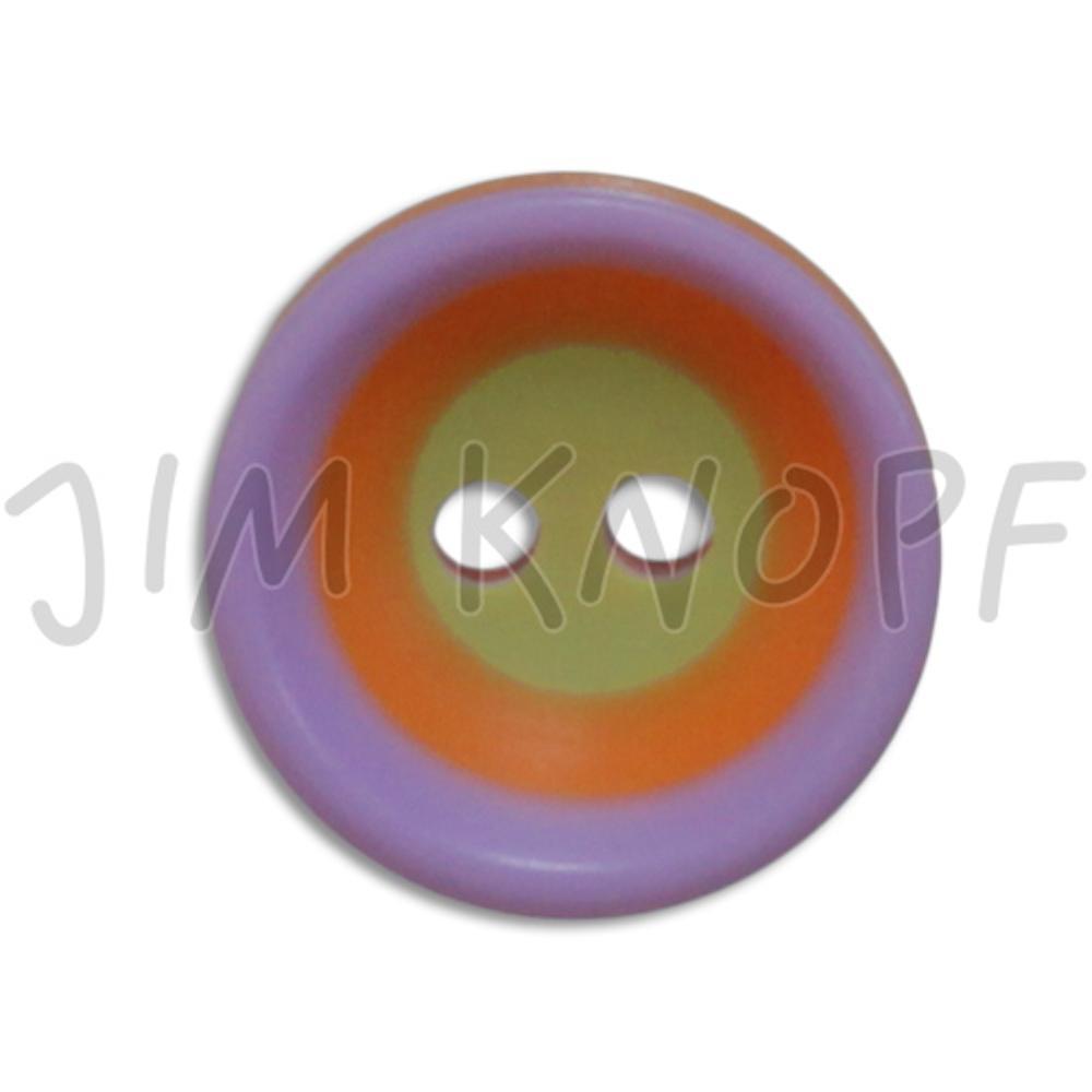 Jim Knopf Colorful plastic button circles 13mm Flieder Orange