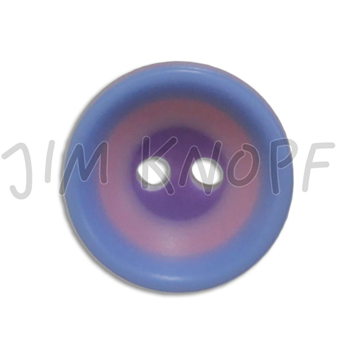 Jim Knopf Colorful plastic button circles 13mm  Braun Grün