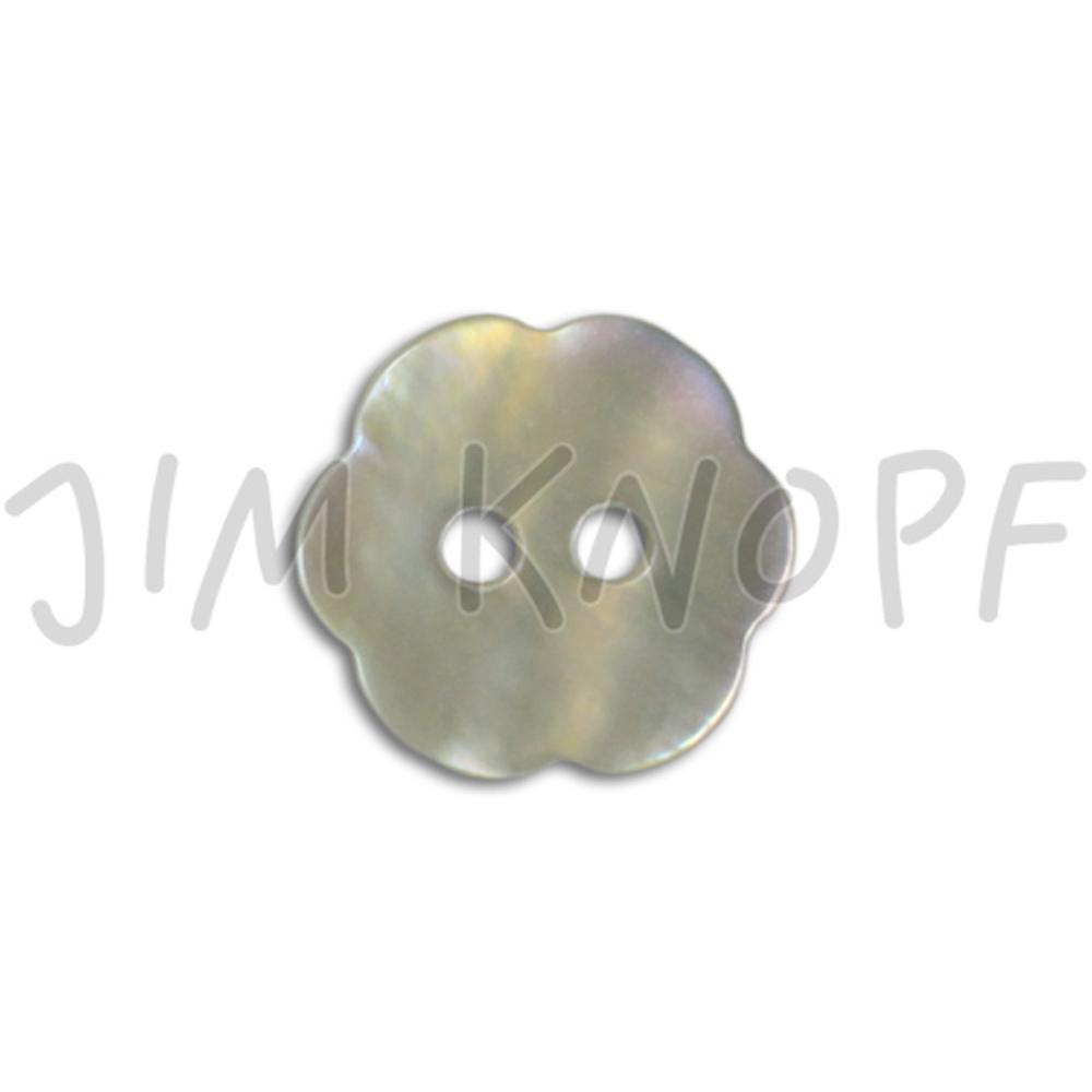 Jim Knopf Agoya shell button flower shape 11mm  Natur