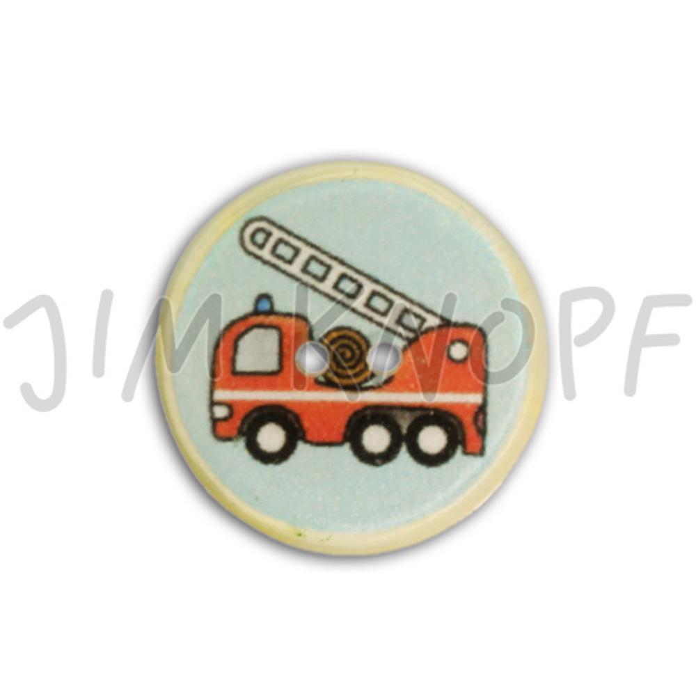 Jim Knopf Resin button for children 18mm  Feuerwehrauto