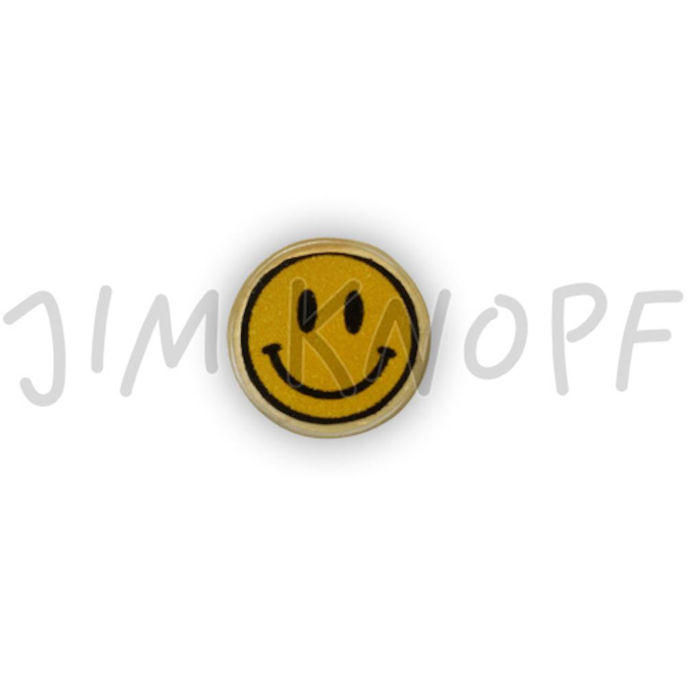 Jim Knopf Coco wood button smiley motiv 16mm  Lächelnd