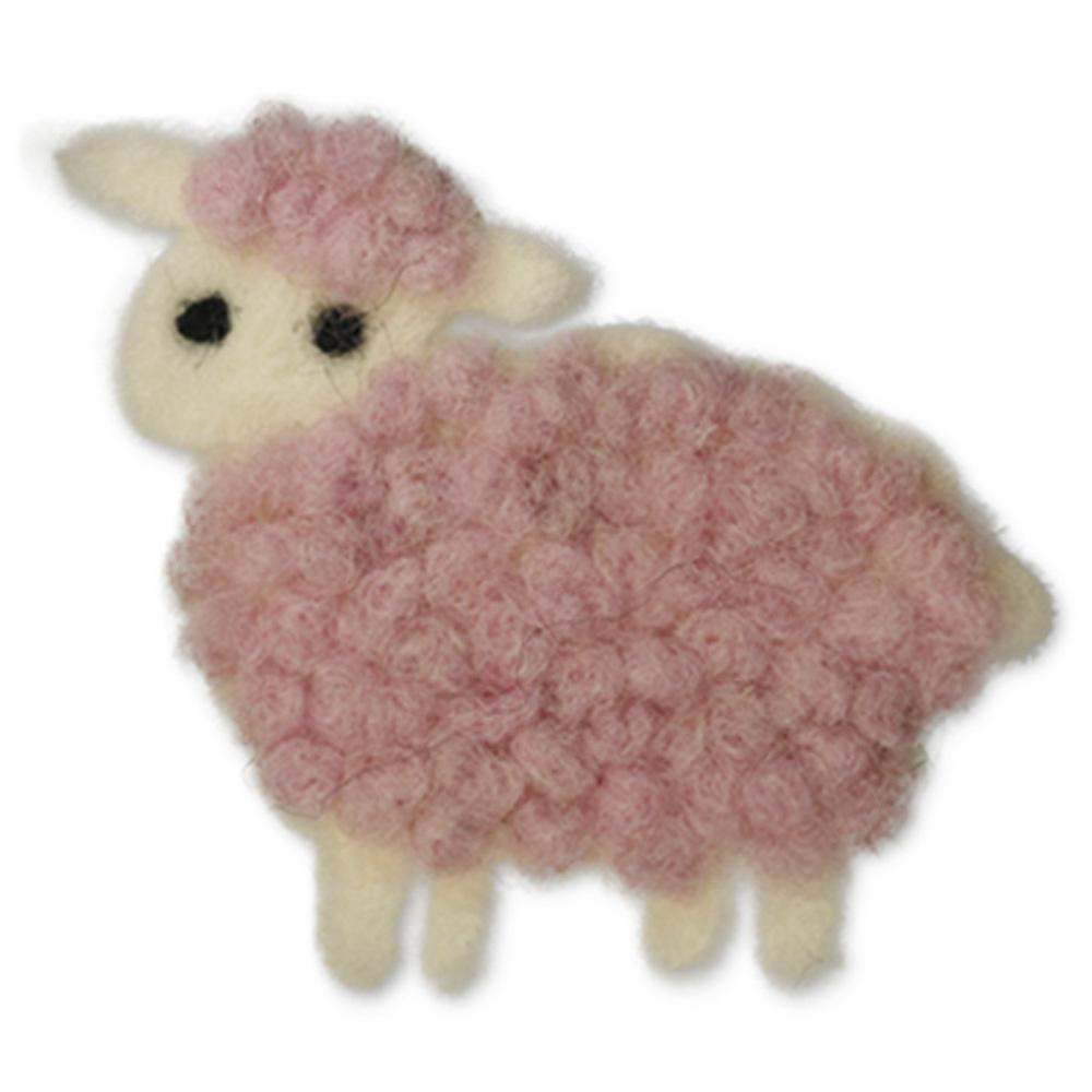 Jim Knopf Felted sheep motivs Rosa