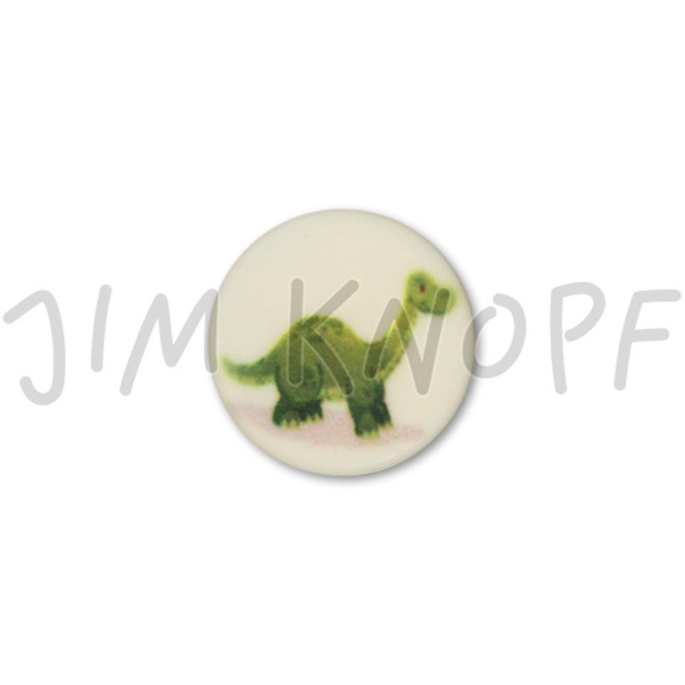 Jim Knopf Cute plastic button with dino 16mm Dino
