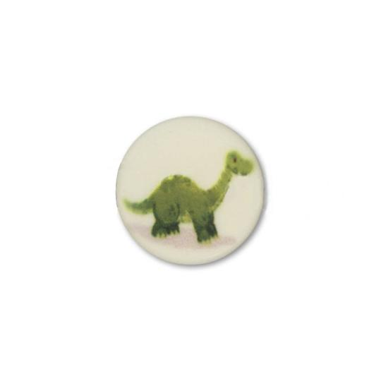 Jim Knopf Cute plastic button with dino 16mm