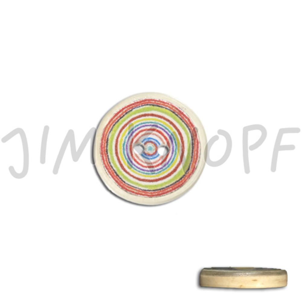 Jim Knopf Resin button with colorful circles several sizes  Rot