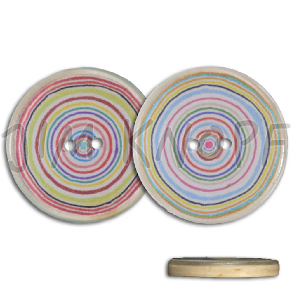 Jim Knopf Resin button with colorful circles several sizes
