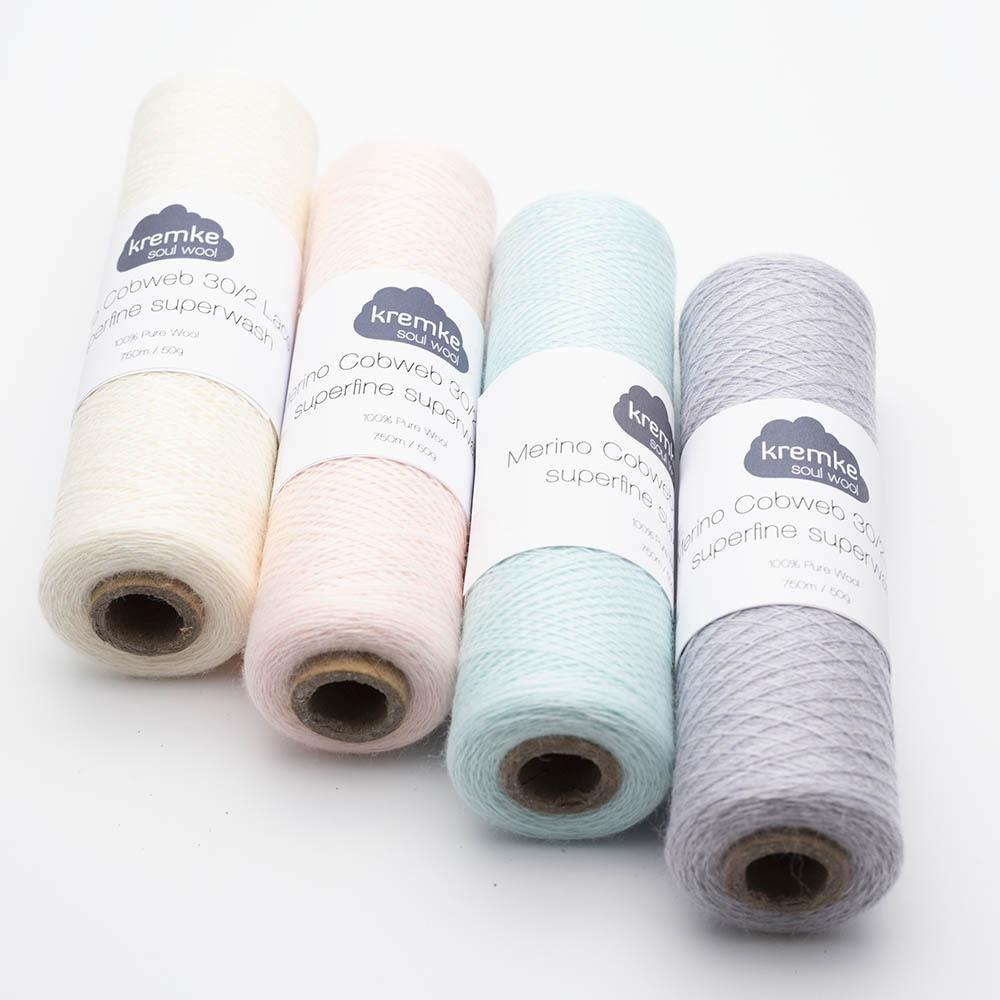 Kremke Soul Wool Merino Spindelvævs Lace 30/2 superfine superwash
