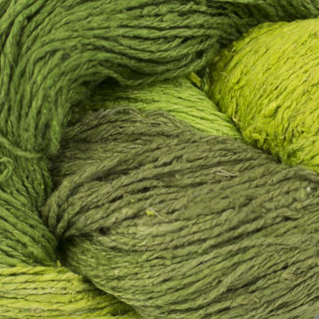 BC Garn Soft Silk handpaint  greengarden-mix