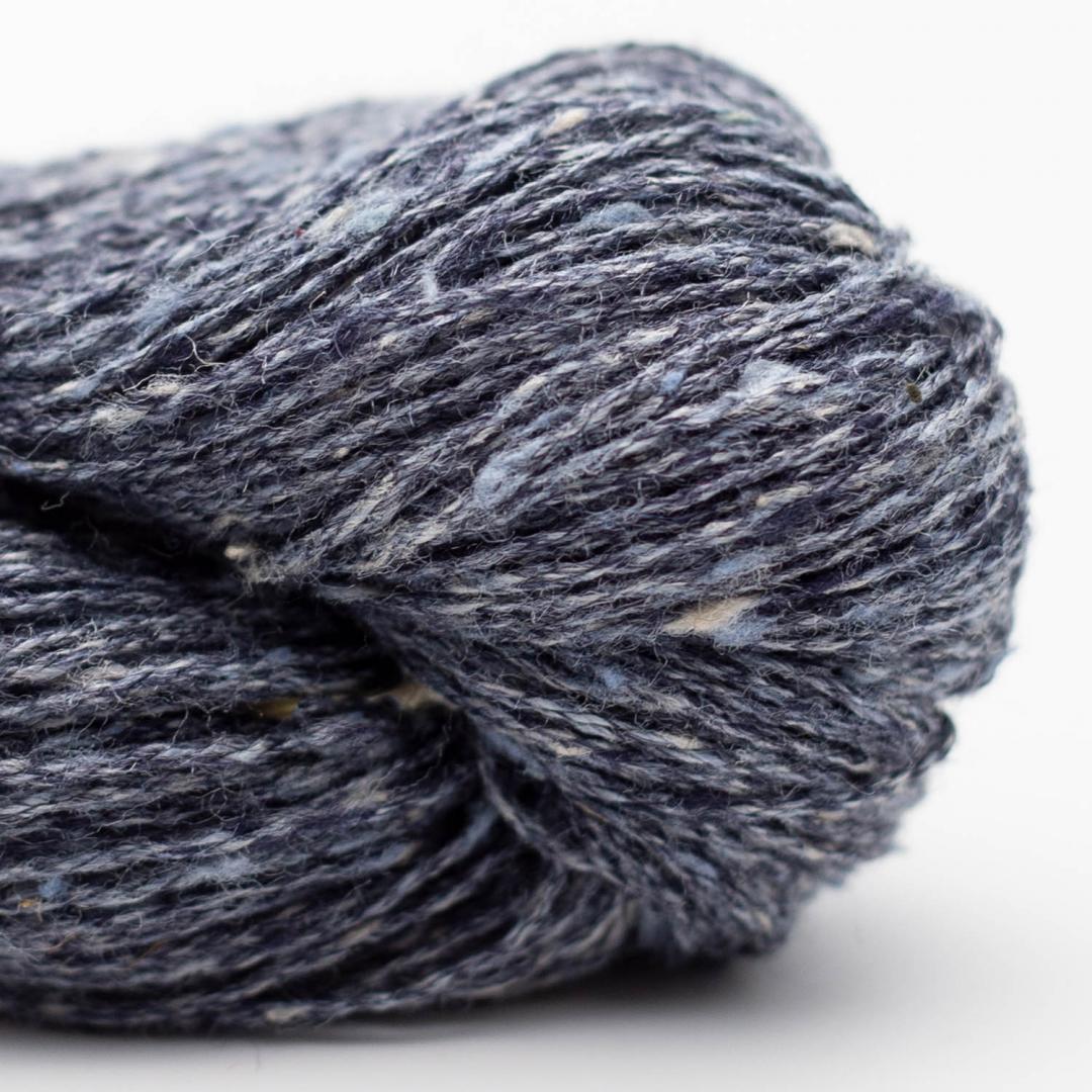 BC Garn Tussah Tweed graublau
