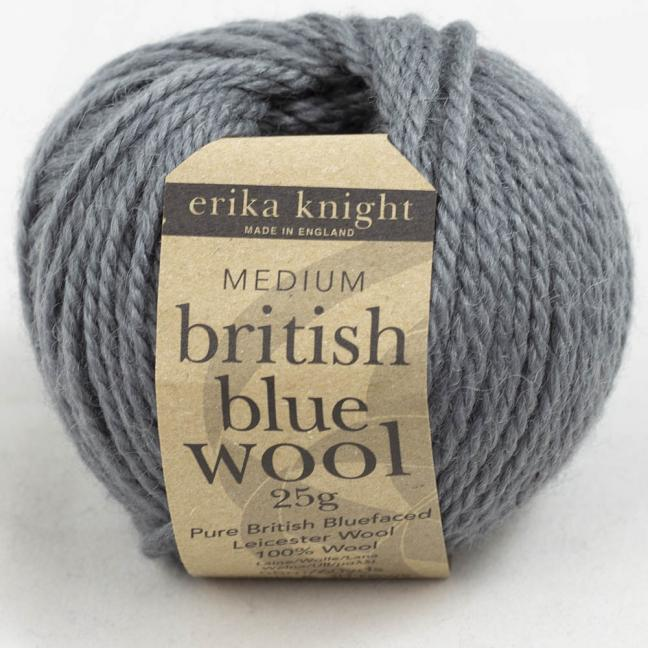Erika Knight British Blue Wool 25g Mouse