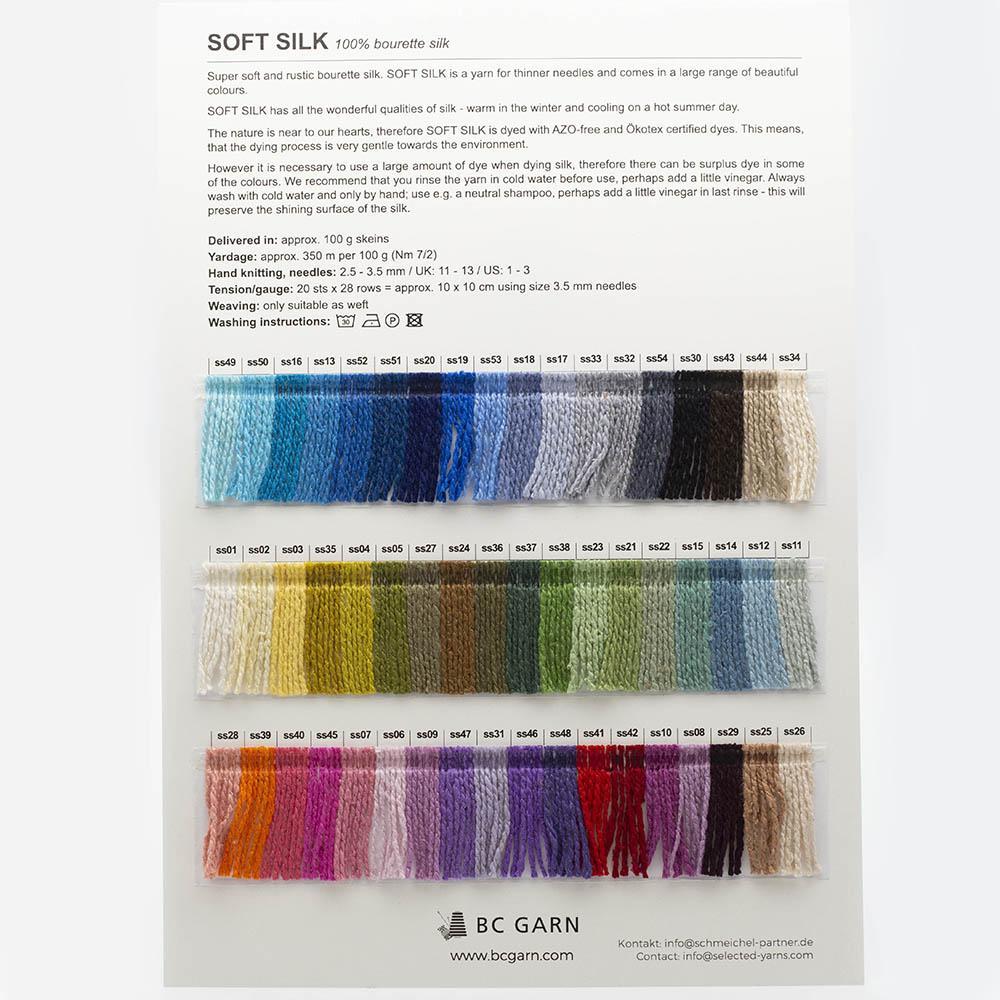 BC Garn Farbkarten von BC Garn Soft Silk