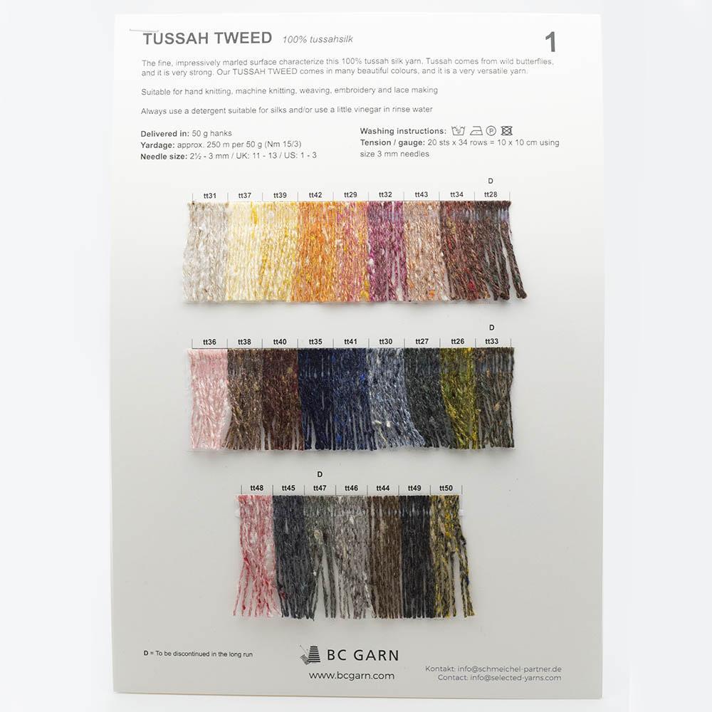 BC Garn Farbkarten von BC Garn Tussah Tweed